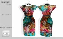 2DT Couture - ISAURE Dress- PROMO 1 WEEK -(Colorful Collection )