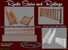 Rustic Stairs and Railings Builders Pack - Full Permission for Builders - Low Land Impact!