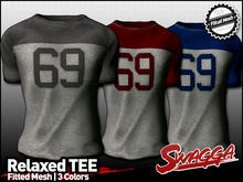"[SWaGGa] Fitted Mesh Relaxed Tee ""69"" - FITMESH"