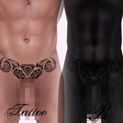 RU - Maori Tribal Hip Tattoo