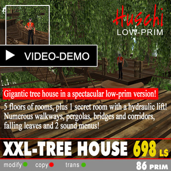 XXL-Tree house 2013 with 6 floors - TREE HOUSE -