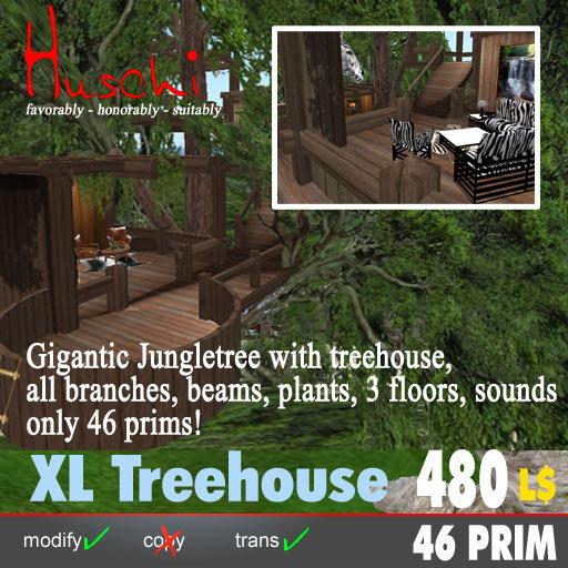 XL-Tree house with 3 floors