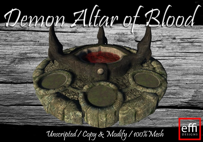Second Life Marketplace Effi Demon Altar Of Blood