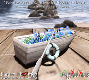 "<Heart Homes> ""Seashell Finders""  Flower Boat Deco (Copy)"