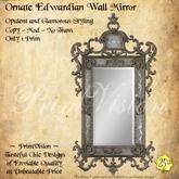 *PV* Ornate Edwardian Wall Mirror
