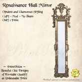 *PV* Renaissance Hall Mirror