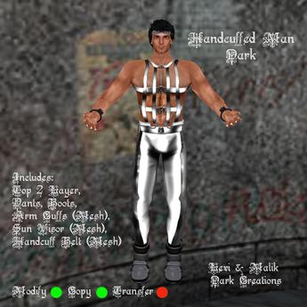 Handcuffed Man Dark