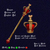 Queen Crown and Scepter Set