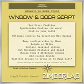 Window and Door Script - Copy/Transfer - ZimberLab WinDoor Builder's Kit