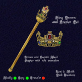 King Crown and Scepter Set