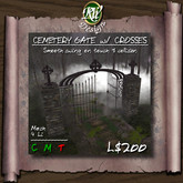 ** Cemetery Gates with Crosses - Multi-face Mesh (boxed) - smooth swing - script allows the gates to be linked