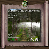 ** Wrought Iron Garden Gate - Multi-face Mesh (boxed) - smooth swing - script allows the gates to be linked