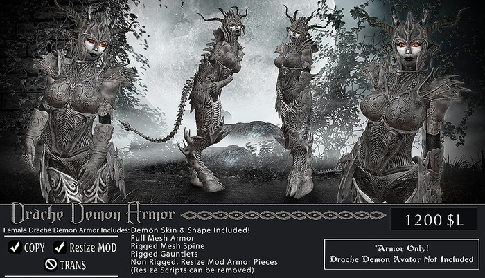 Drache Demon Armor Set Female