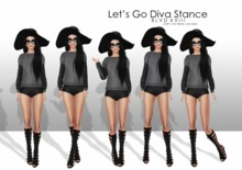 B18 / Let's Go Diva Stance Pose Set