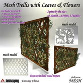 Mesh Trellis with Leaves & Flowers -spring
