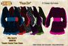 [SEW] FP Tex MI86755 Trumpet Sleeve Tunic Dress PolkaDot