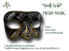 daVal Masks - Quilt Gold (BOX)