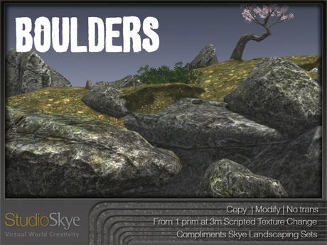 :NEW: Skye Boulders Set - Materials Enabled - 100% MESH