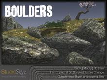Skye Boulders Set - Materials Enabled - 100% MESH