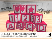 KH Living: Children's Toy Blocks [Pink]