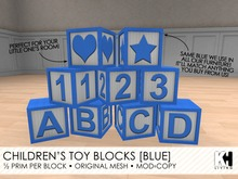KH Living: Children's Toy Blocks [Blue]