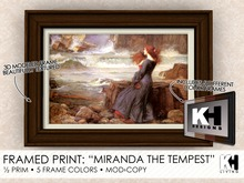"KH Living: ""Miranda the Tempest"" Framed Print, 5 Different Frame Colors"
