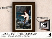 "KH Living: ""The Mermaid"" Framed Print, 5 Different Frame Colors"