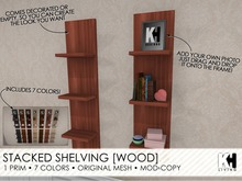 KH Living: Stacked Shelves, 7 Colors, 2 Styles [Natural Woods]