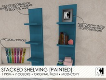 KH Living: Stacked Shelves, 7 Colors, 2 Styles [Painted Colors]