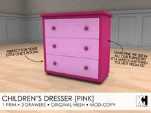 KH Living: Children's Dresser [Pink]