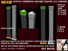 Beautifull high detailed FP square column (3 quarter square version) M0338