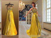"""DEW"" OUTLET /Gill Gown yellow"