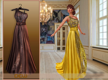 """""""DEW"""" OUTLET /Gill Gown brown"""