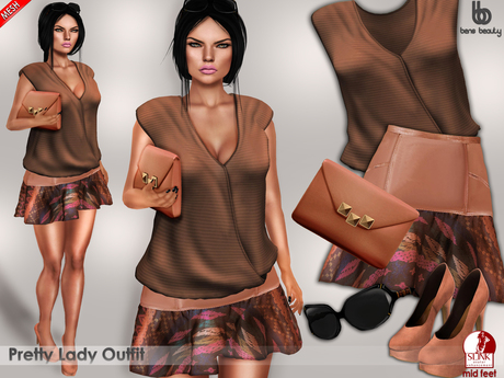 Bens Boutique - Pretty Lady Outfit (MESH)