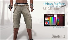 Instinct - Urban Surface Shorts  - BEIGE  -Liquid Mesh