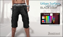 Instinct -Urban Surface Shorts  -BLACK  -Liquid Mesh