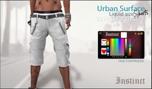 Instinct -Urban Surface Shorts  - WHITE  -Liquid Mesh