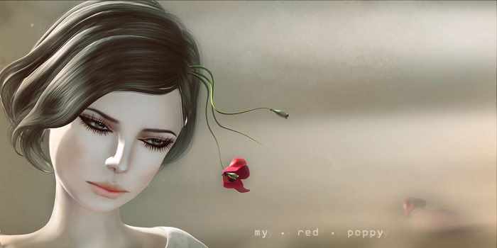 *LODE* Headwear - My Red Poppy