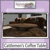 Serendipity Designs -  Cattlemen's Coffee Table