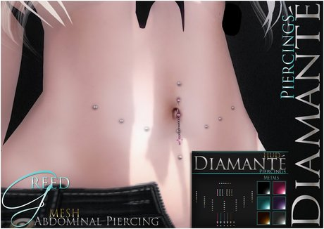 :Diamante: Greed Abdominal Piercing
