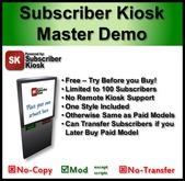 Subscriber Kiosk 3.0 Master Demo