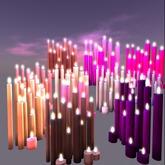 Candle bunch 3 prims copy purple