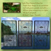 Triple Fleur Stained Glass Set (6 textures)
