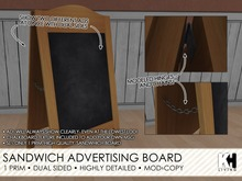 KH Living: Sandwich Advertising Board