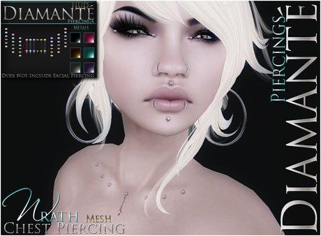 :Diamante: Wrath Chest Piercing