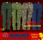 TUH Bunker- Sukhoi Cargo Pants Fitmesh-FATPACK *BOOTS INCLUDED