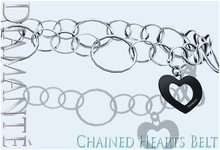 :Diamante: Chained Hearts Belt