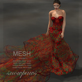 Snowpaws - Rosazul Miss Venezuela Gown - Red Orchid