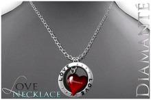 :Diamante: LOVE Necklace - Red