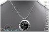 :Diamante: LOVE Necklace - Black